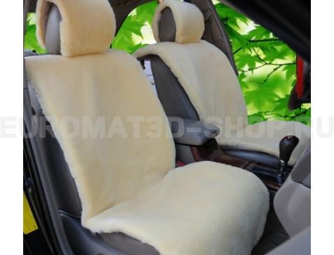 Накидка на сиденья автомобиля из искусственного меха Euromat Tex (бежевая) № EUSH-004001