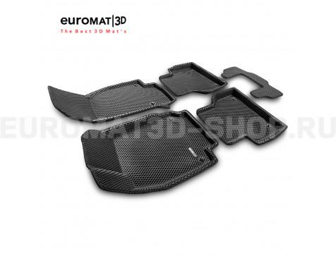 3D коврики Euromat3D EVA в салон для Audi A7 (2019-) № EM3DEVA-001111